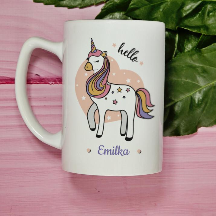 Hello unicorn - kubek personalizowny