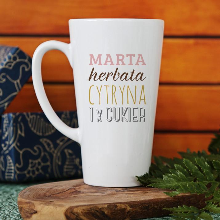 Herbata, Cytryna, Cukier - Personalizowany Kubek