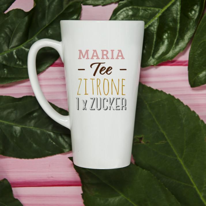 Tee, Zitrone, Zucker - Personalisierte Tasse
