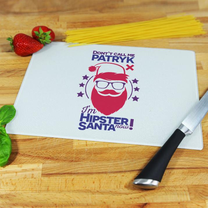 Hipster Santa - deska do krojenia