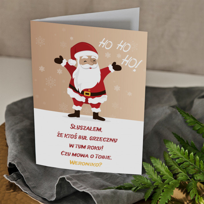 Ho ho ho - kartka z życzeniami