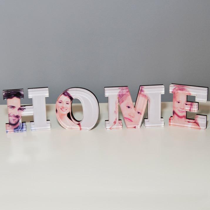 HOME - słowo 3D ze zdjęć