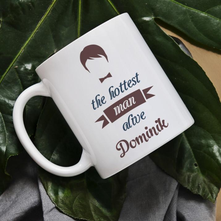 Hottest Man - Personalisierte Tasse