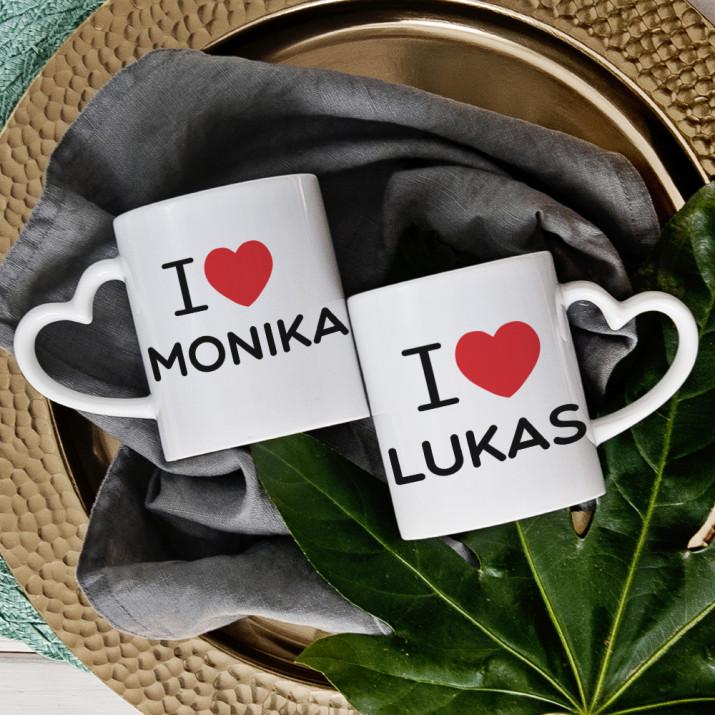 I Love... - Tassen für Paare