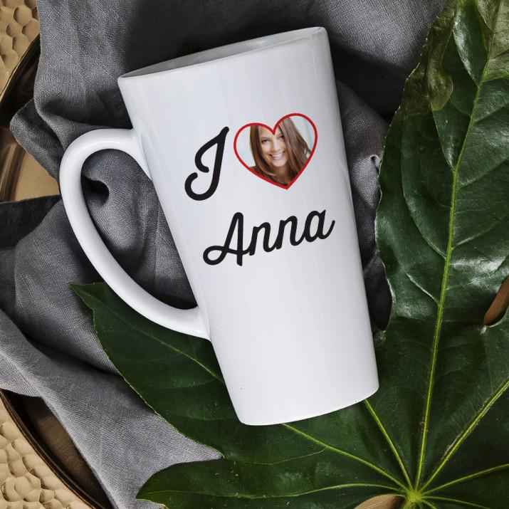 I love.. - Personalisierte Tasse mit Foto