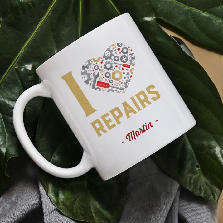 I love repairs - personalisierte Tasse