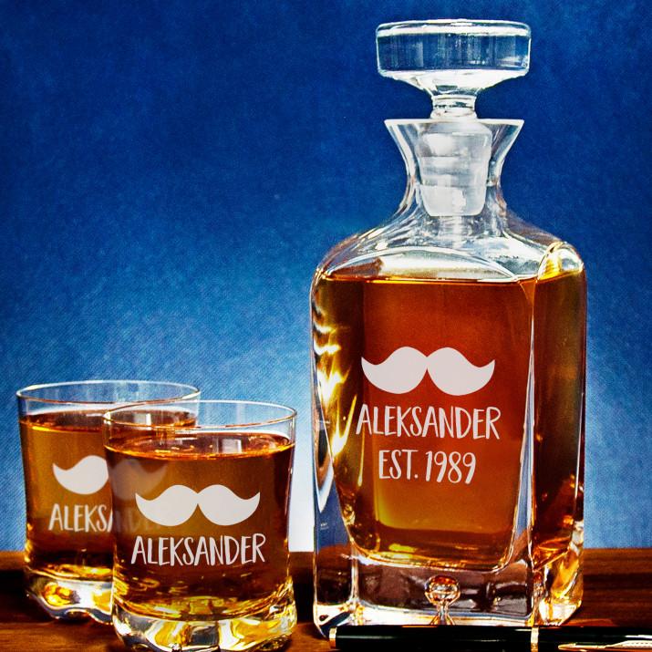 Imię - Zestaw Grawerowana Karafka I Szklanki Do Whisky