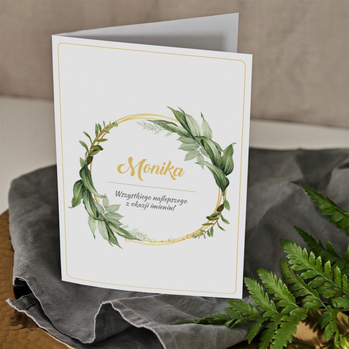 Imieniny wianek - kartka z życzeniami