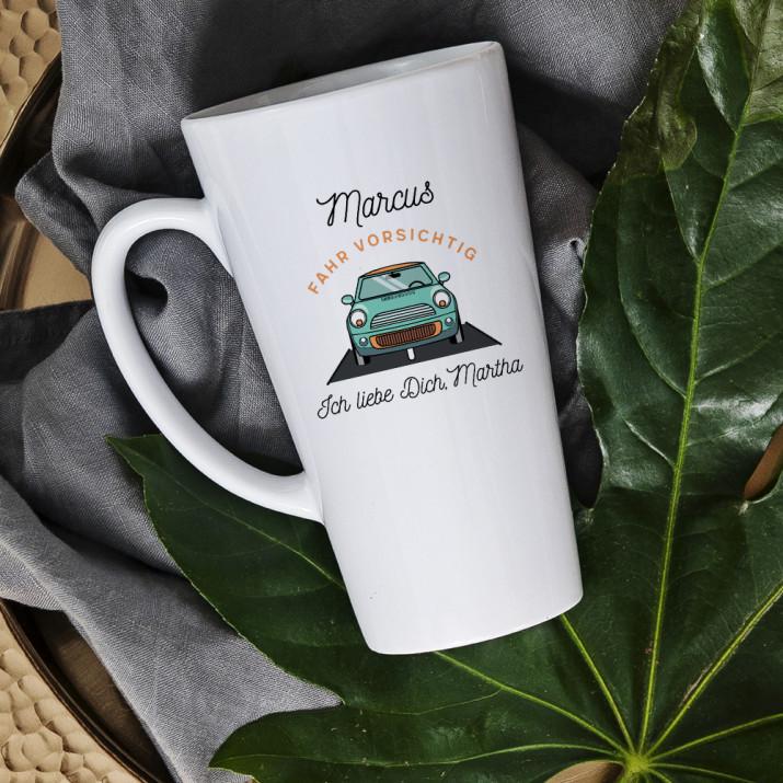 Fahr vorsichtig - personalisierte Tasse