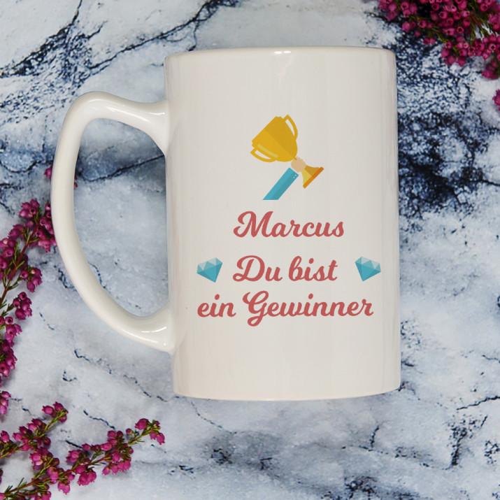 Gewinner - Personalisierte Tasse