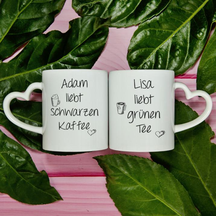 Kaffee & Tee - Tassen für Paare