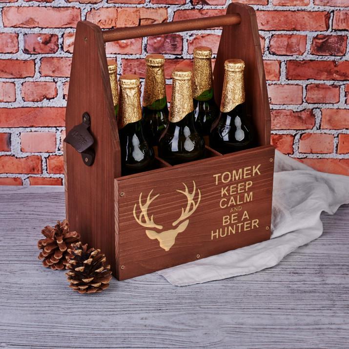 Keep calm and be a hunter - Nosidło na piwo z otwieraczem