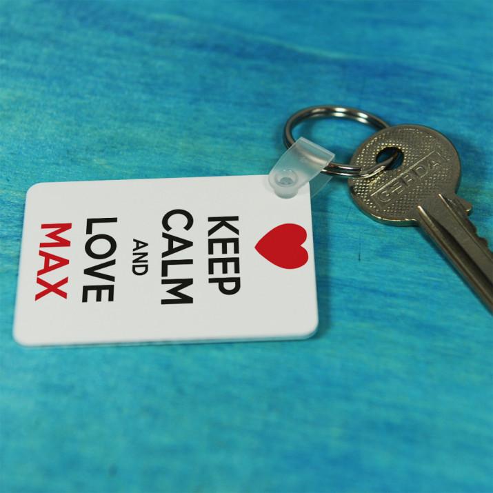 Keep Calm and Love... - Schlüsselanhänger
