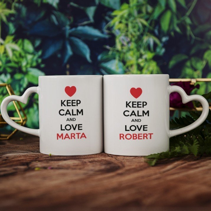 Keep Calm and Love Me - Kubki dla pary
