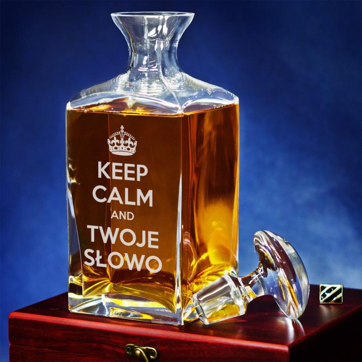 Keep Calm - grawerowana karafka