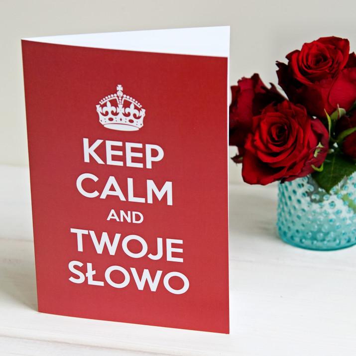 Keep calm - kartka z życzeniami