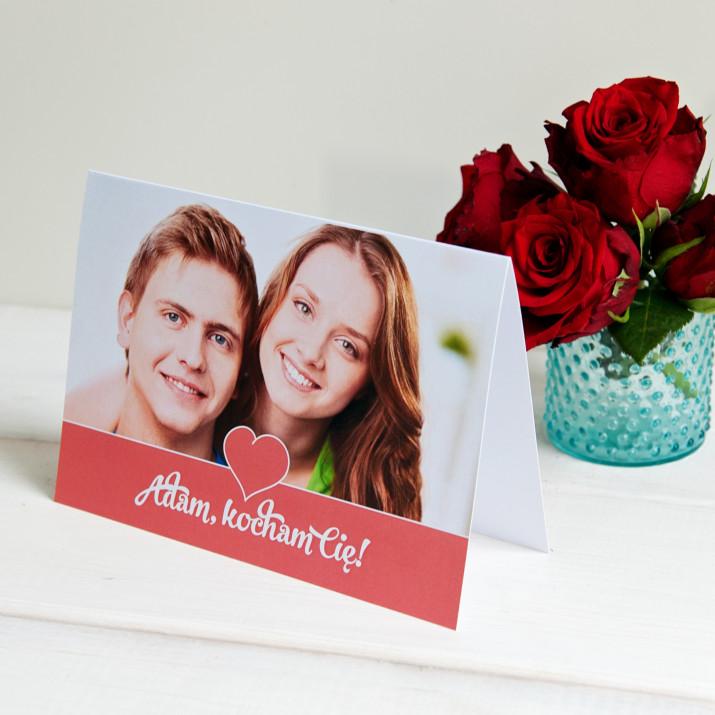 Kocham Cię - kartka z życzeniami