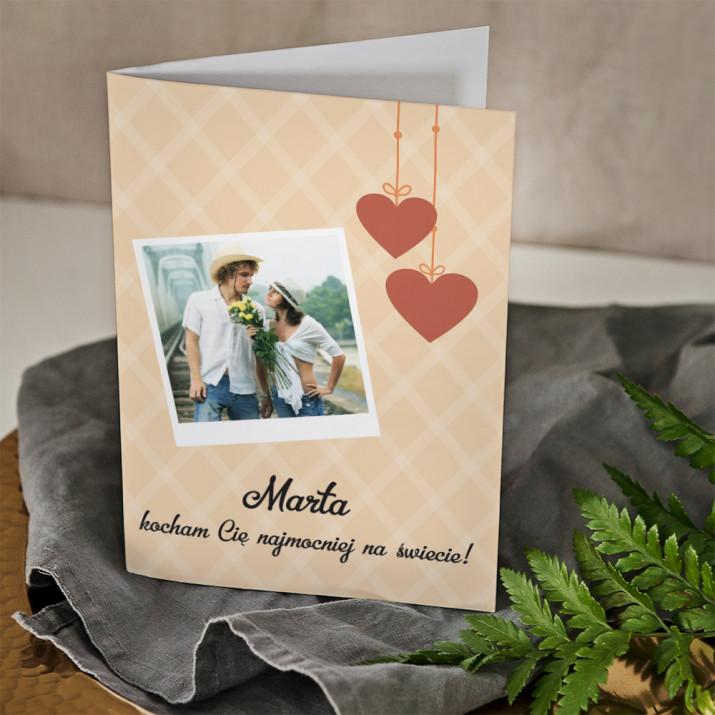 Kocham Cię najmocniej - kartka z życzeniami
