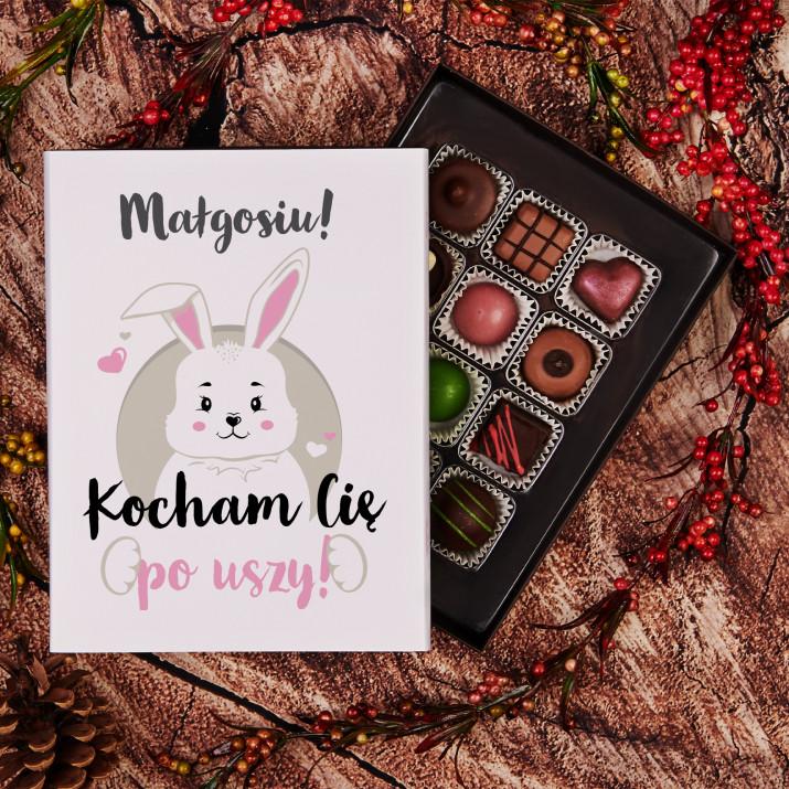 Kocham Cię po uszy - Praliny z belgijskiej czekolady