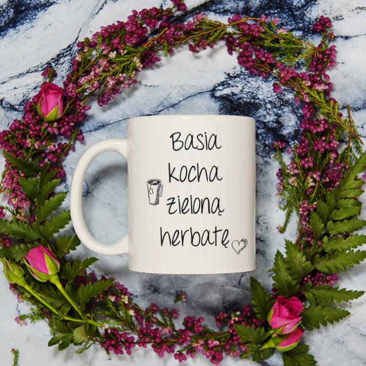 Kocham herbatę - kubek personalizowany