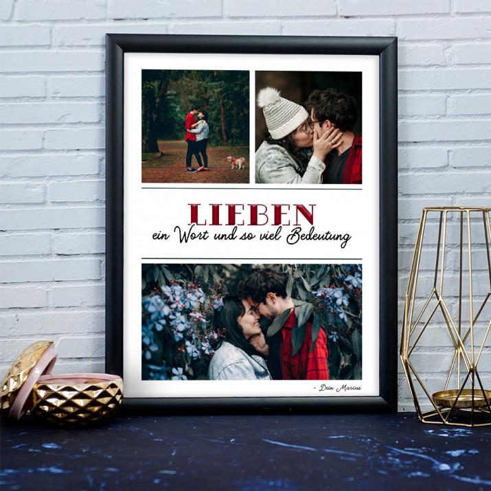 Lieben - Collage aus Fotos