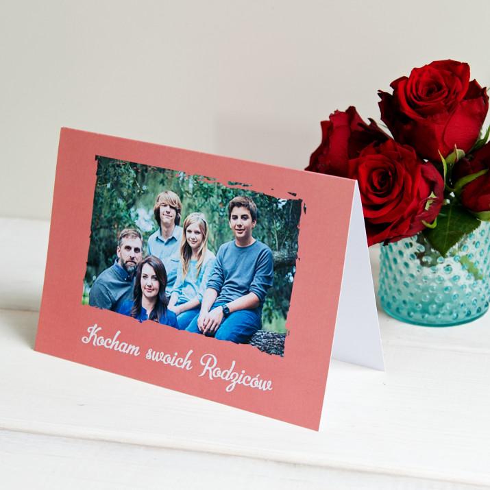 Kocham rodziców - kartka z życzeniami