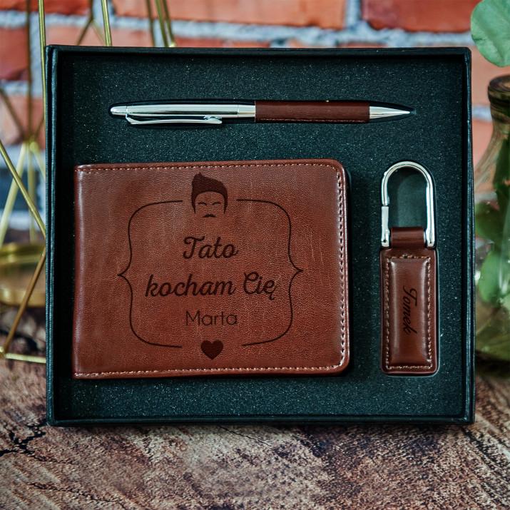 Kocham Tatę - zestaw z portfelem