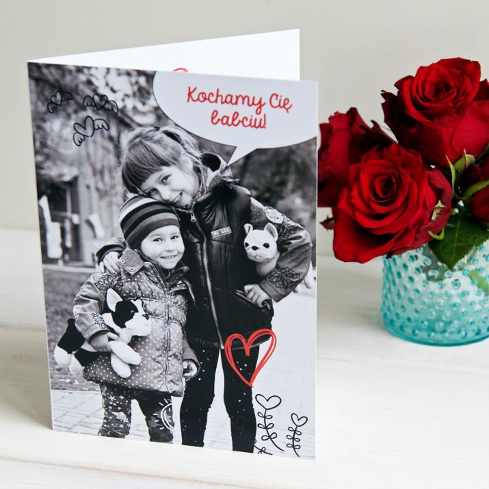 Kochamy Cię babciu - kartka z życzeniami