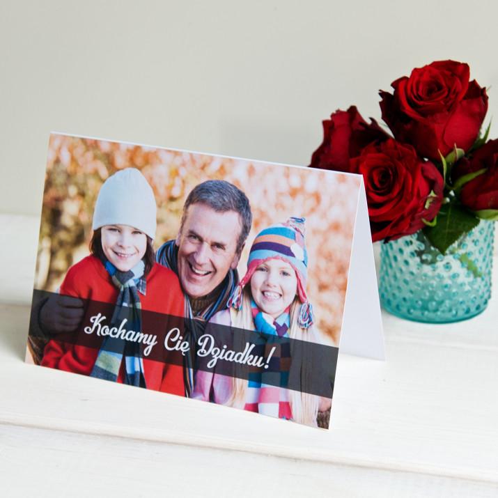 Kochamy Cię dziadku - kartka z życzeniami