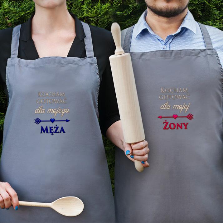 Kochamy Gotować - Zestaw dwóch fartuchów kuchennych