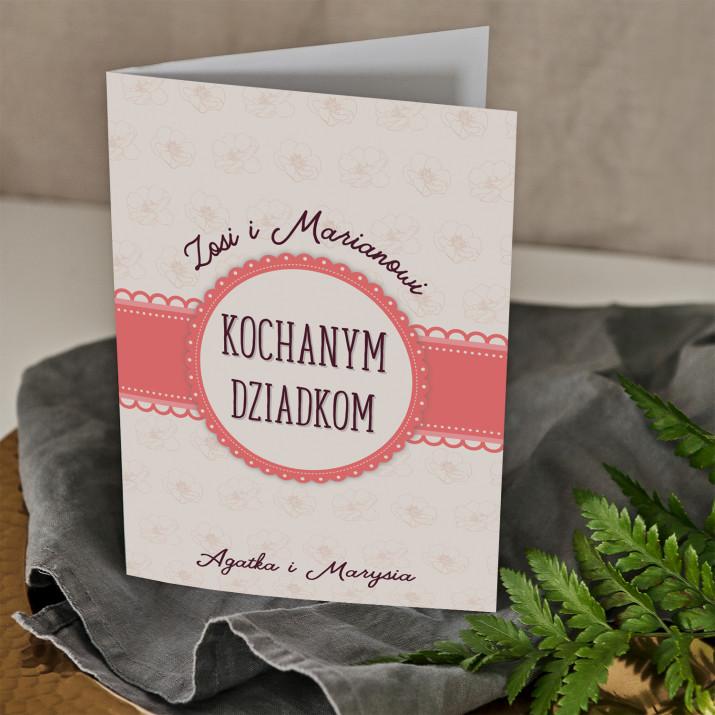 Kochanym dziadkom - kartka z życzeniami