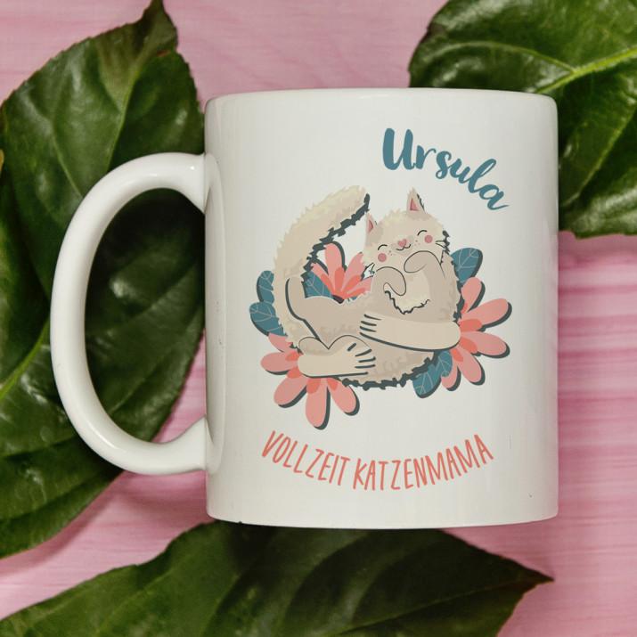 Katzenmama - personalisierte Tasse