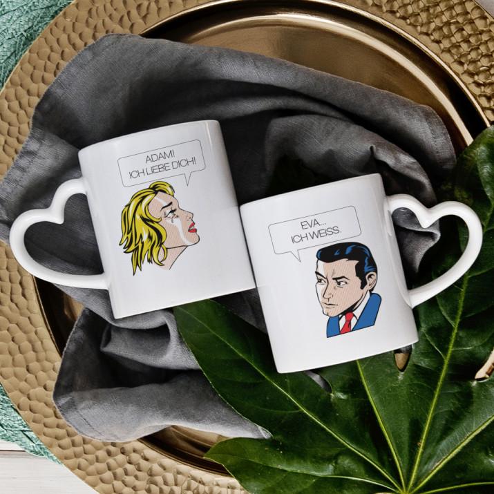 Comic - Tassen für Paare