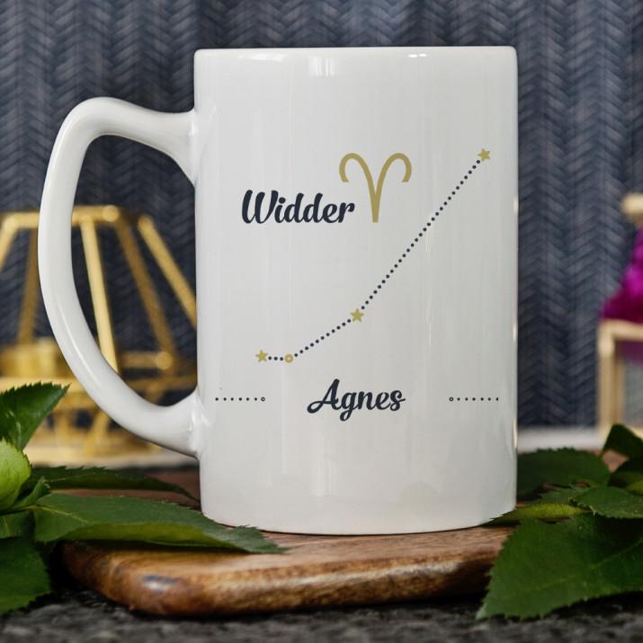 Sternzeichen - Widder - personalisierte Tasse