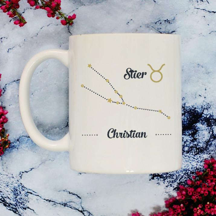 Sternzeichen - Siter - personalisierte Tasse