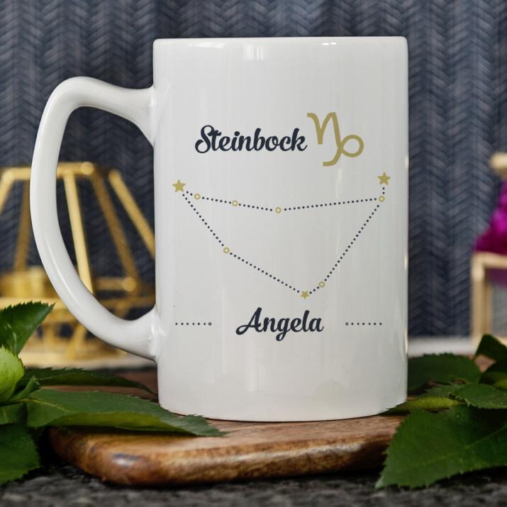 Sternzeichen - Steinbock - personalisierte Tasse