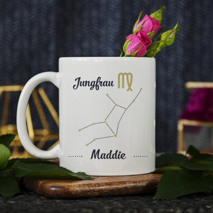 Sternzeichen - Jungfrau - personalisierte Tasse