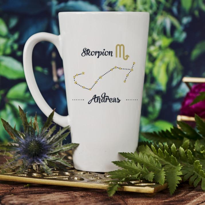 Sternzeichen - Skropion - personalisierte Tasse