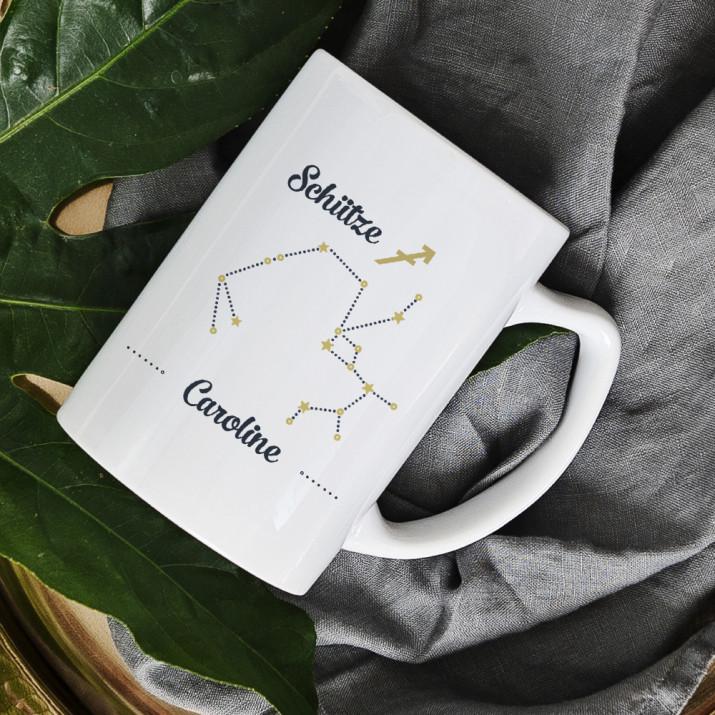 Sternzeichen - Schütze - personalisierte Tasse