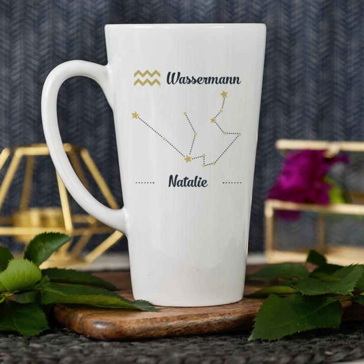 Sternzeichen - Wassermann - personalisierte Tasse