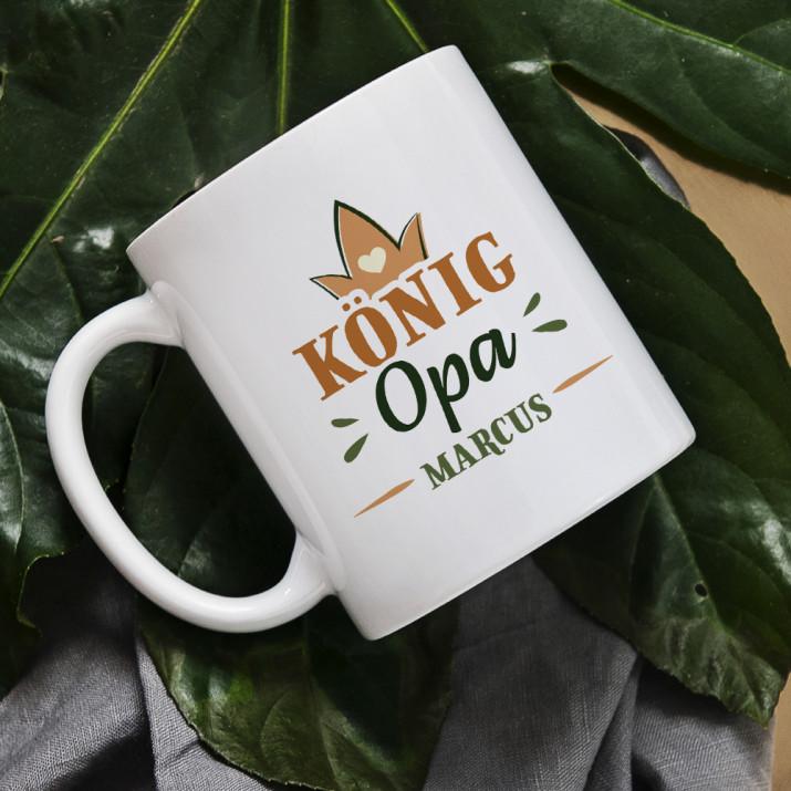 König Opa - personalisierte Tasse