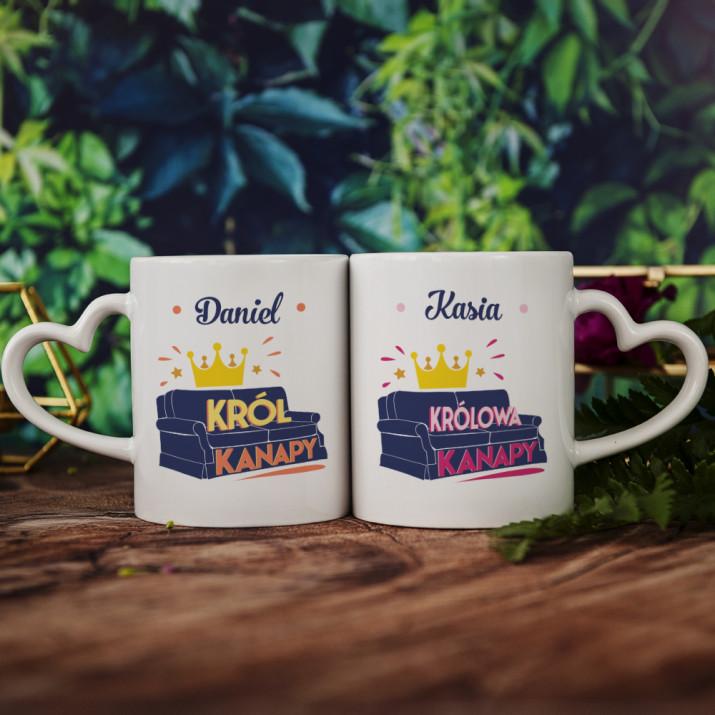 Król i królowa kanapy - Kubki dla pary