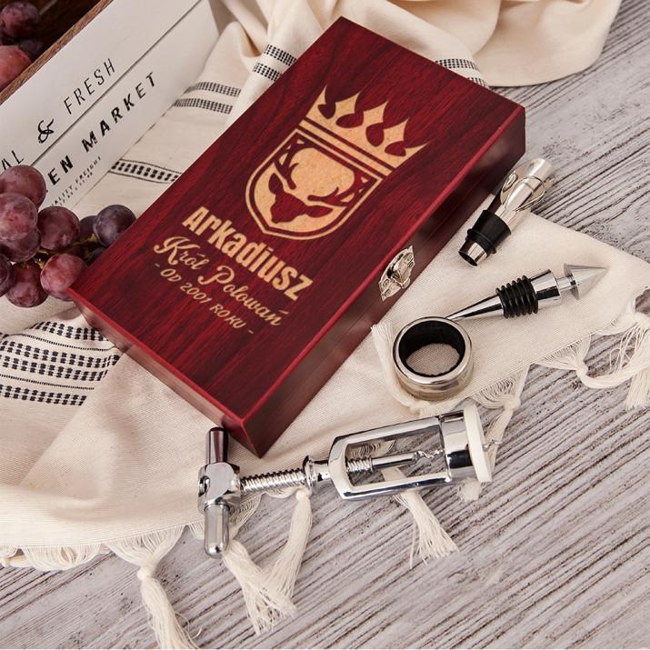 Król polowań - zestaw do wina