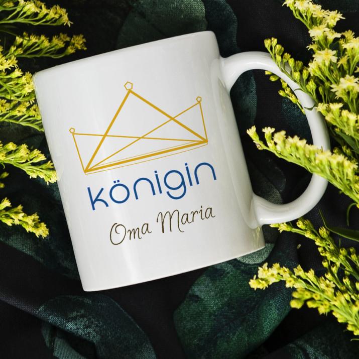 Königin Oma - personalisierte Tasse