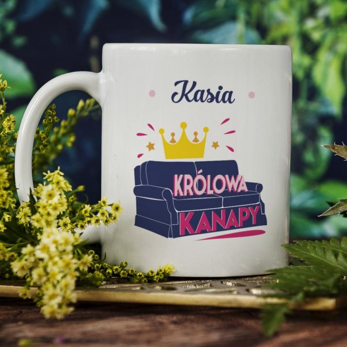 Królowa kanapy - Personalizowany Kubek