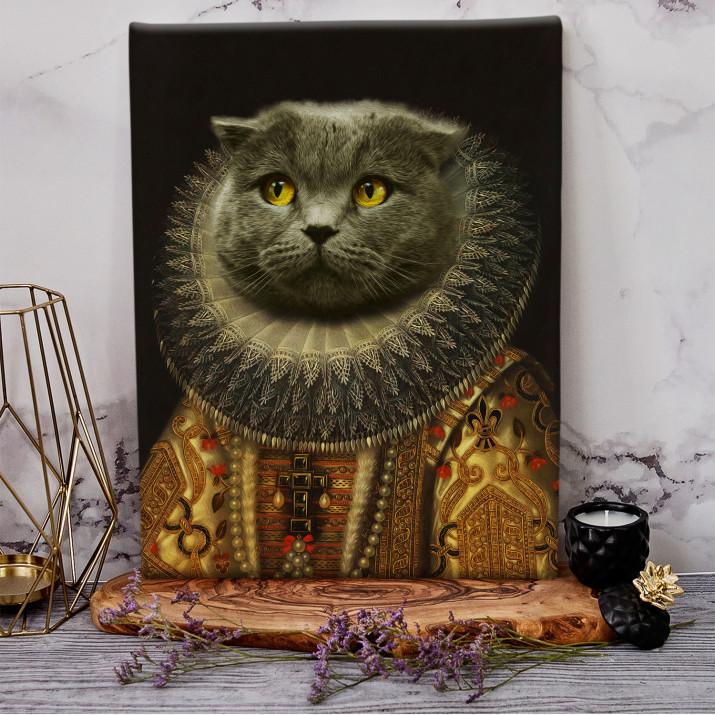 Fürstin - Haustier Königsporträt