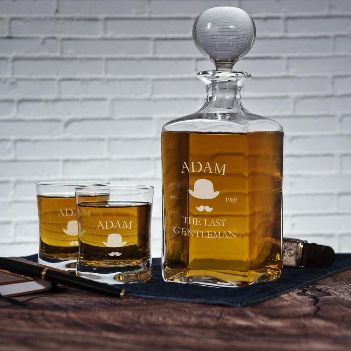 Last Gentleman - Zestaw Grawerowana Karafka I Szklanki Do Whisky