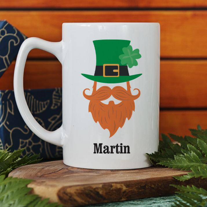 Leprechaun Mann - Personalisierte Tasse