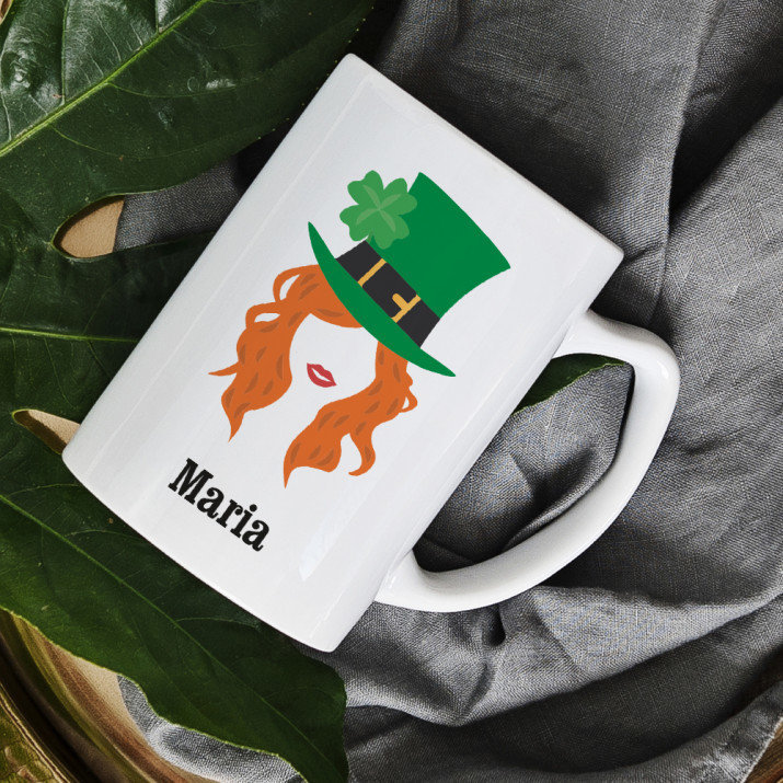 Leprechaun Frau - Personalisierte Tasse