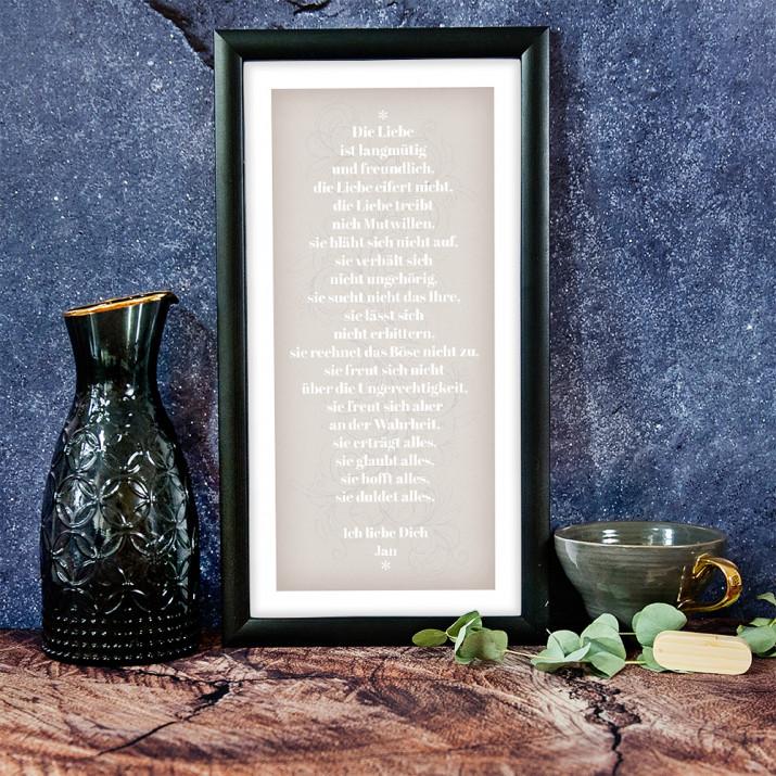 1. Brief des Paulus an die Korinther - Kunstdruck mit Rahmen